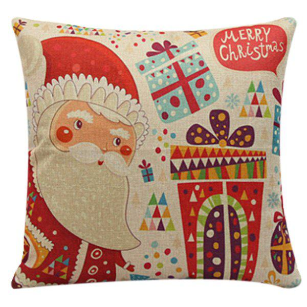 Soft Merry Cartoon Santa Claus Pillow Case soft warm plush cartoon santa claus hat cap for christmas red white