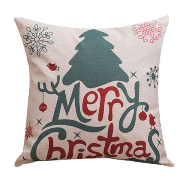 Soft Merry Christma Sofa Bed Pillow Case - COLORMIX