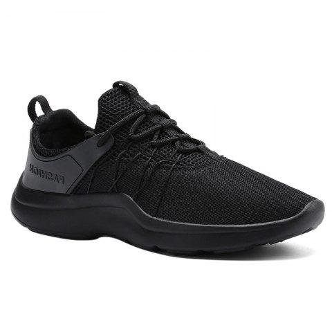 Mesh Breathable Athletic Shoes - BLACK 44