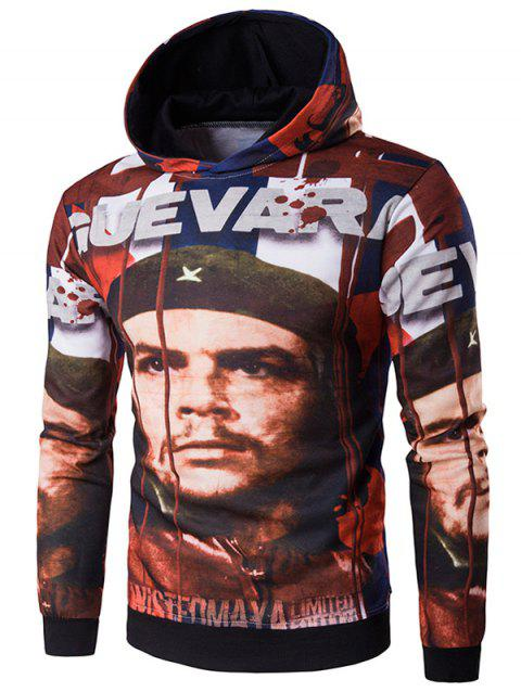 3D Soldier Print Hooded Hoodie - COLORMIX XL