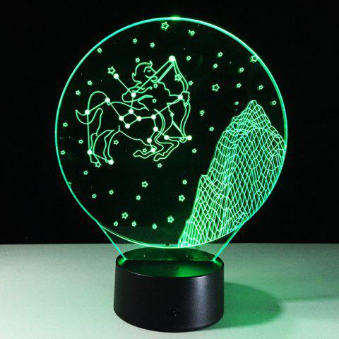 3D visuel 7 Changement de couleur Forme Sagittarius tactile LED Night Light - Coloré