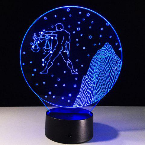 3D visuel 7 Changement de couleur Forme Balance tactile LED Night Light - coloré