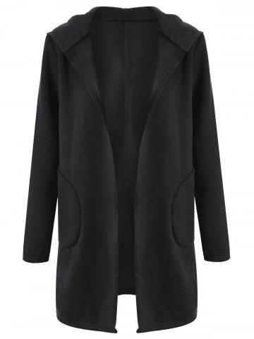 2018 Long Black Hooded Cardigan Online Store. Best Long Black ...