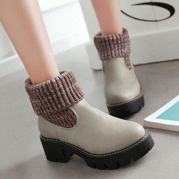 Plate-forme Splicing Knitting Bottes - Gris Clair 40