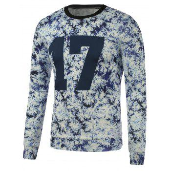 Crew Neck Tie Dyed 17 Printed Sweatshirt - WHITE WHITE