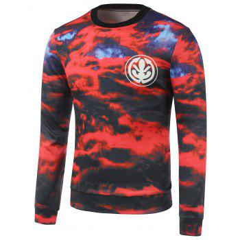 Buy Graphic Printed Crew Neck Cloud Sweatshirt RED