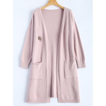 Casual Side Slit Long Knit Cardigan