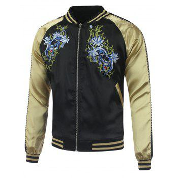 Kylin  Embroidery Raglan Sleeve Sukajan Jacket