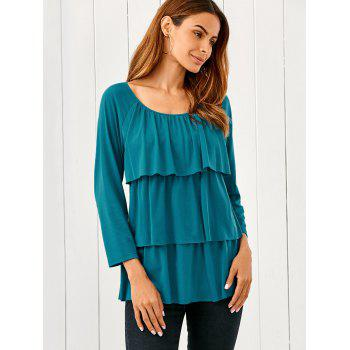 Raglan Sleeve Layered Blouse