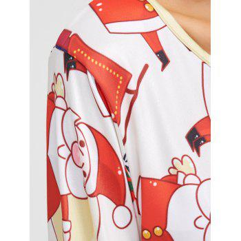 Santa Claus Pattern A-Line Dress - ONE SIZE ONE SIZE