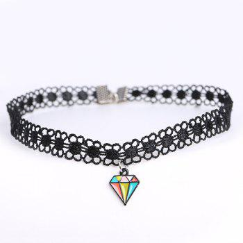 Diamond Shape Flower Choker