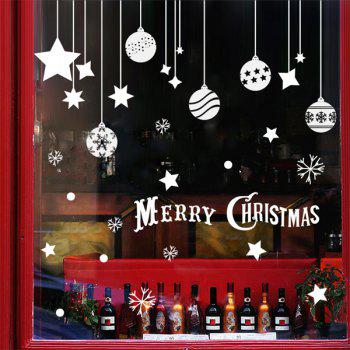 Christmas Pendants Removable DIY Festival Wall Stickers
