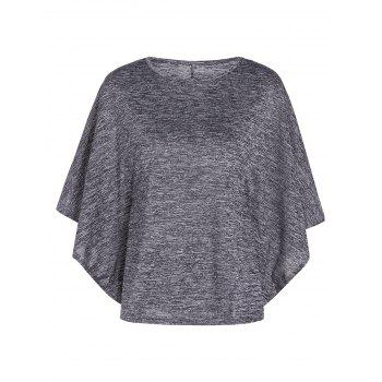 Bat-Wing Sleeve Loose Tie-Dyed Blouse