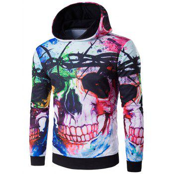 Buy 3D Skull Design Print Halloween Hoodie COLORMIX