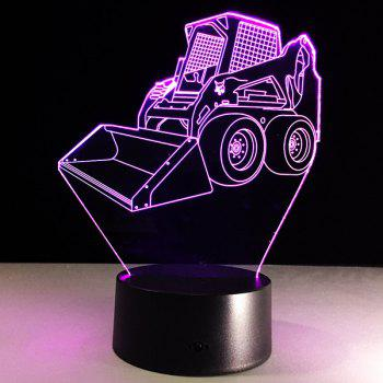 3D Bulldozer 7 Color Touch Changing Night Light
