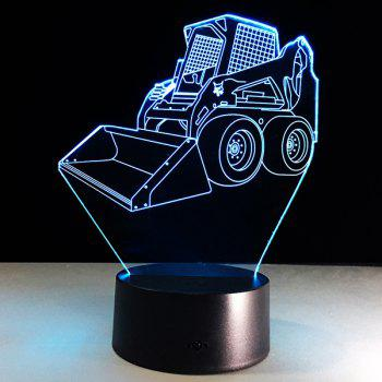 3D Bulldozer 7 Color Touch Changing Night Light - TRANSPARENT