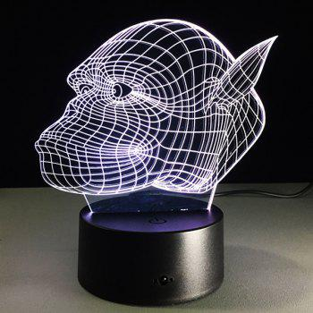 3D Gorilla 7 Color Touch Changing Night Light - TRANSPARENT