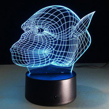 3D Gorilla 7 Color Touch Changing Night Light