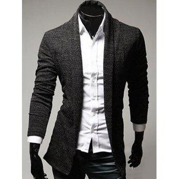 Slimming Turndown Collar Knitting Cardigan