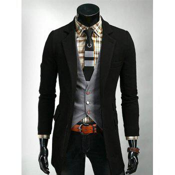 Lengthen Lapel Slimming Single Breasted Blazer