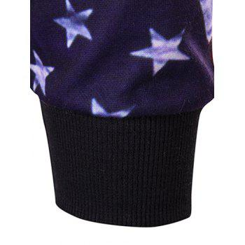 3D Star and Stripe Print Hoodie - COLORMIX M