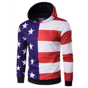 3D Stars and Stripes Print Hoodie