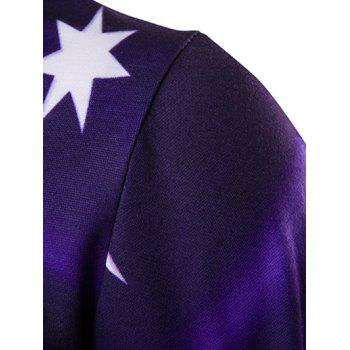 3D Flag of Australia Print Hoodie - DEEP PURPLE M