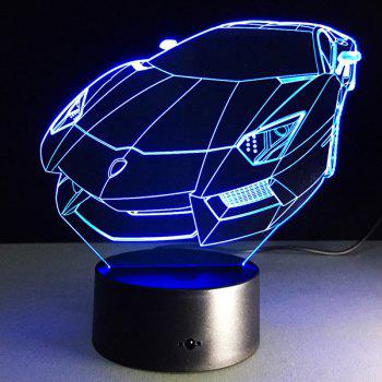 3D Roadster 7 Color Touch Changer Night Light - Transparent