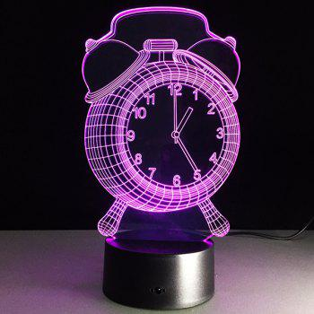 3D Clock 7 Color Touch Changing Night Light