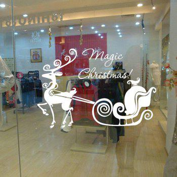 Magic Christmas Glass Window Removable Wall Stickers