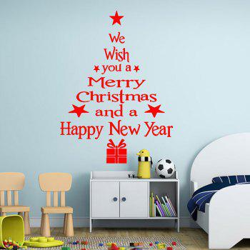 Wishes Tree Christmas Removable Glass Window Wall Stickers