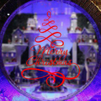 Merry Christmas Ribbon Removable Glass Window Wall Stickers