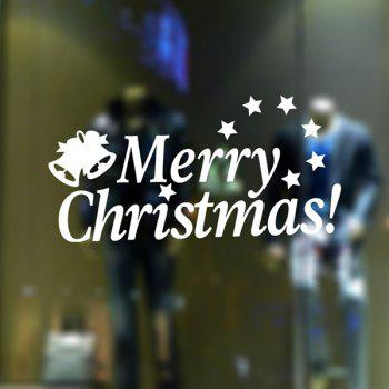 Letters Merry Christmas Removable Glass Window Wall Stickers