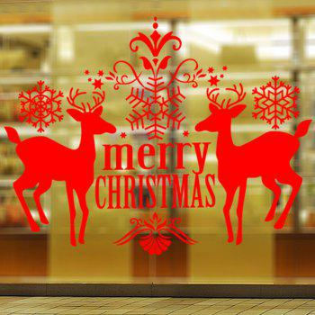 Christmas Deer Removable Waterproof Room Decor Wall Stickers