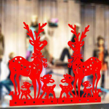 Christmas Deer Removable Window Door Decor Wall Stickers