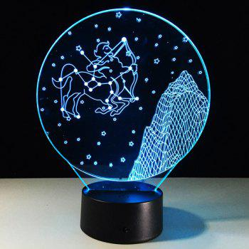 3D Visual 7 Color Changing Sagittarius Shape Touch LED Night Light - COLORFUL