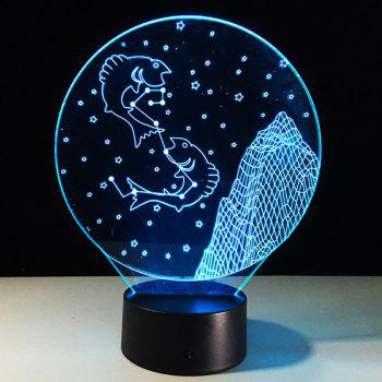 3D Visual 7 Color Changing Pisces Shape Touch LED Night Light