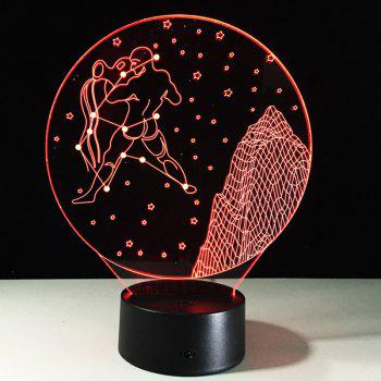 3D Visual 7 Color Changing Aquarius Shape Touch LED Night Light - COLORFUL