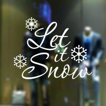 Christmas Let It Snow Glass Window Removable Wall Stickers
