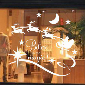 Christmas Believe Magic Glass Window Removable Wall Stickers