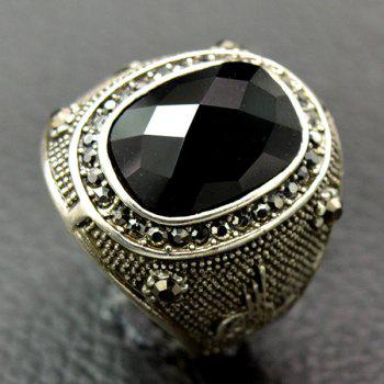 Rhinestone Faux Gemstone Ring