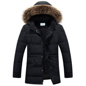 Multi Pockets Detachable Hood Quilted Jacket