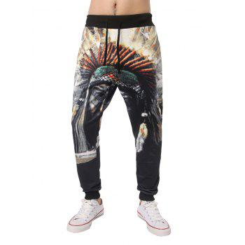 Native 3D Printed Elastic Waist Jogger Pants