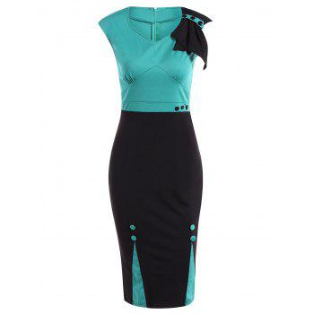 Two Tone Pencil Dress For Work