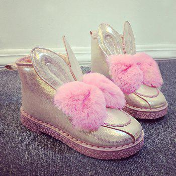 Faux Fur Rabbit Ear Snow Boots
