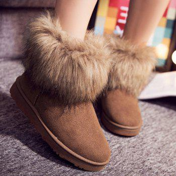 Faux Fur Suede Snow Boots