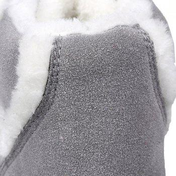 Fuzzy Suede Ankle Boots - GRAY GRAY