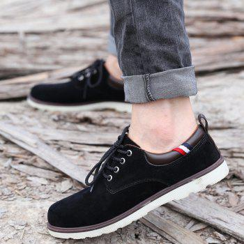 Lace Up Suede Casual Shoes - 42 42