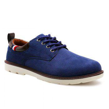 Buy Lace Suede Casual Shoes BLUE