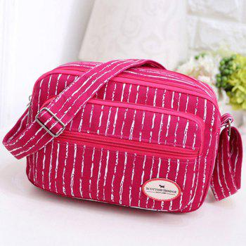 Zippers Striped Pattern Colour Block Crossbody Bag